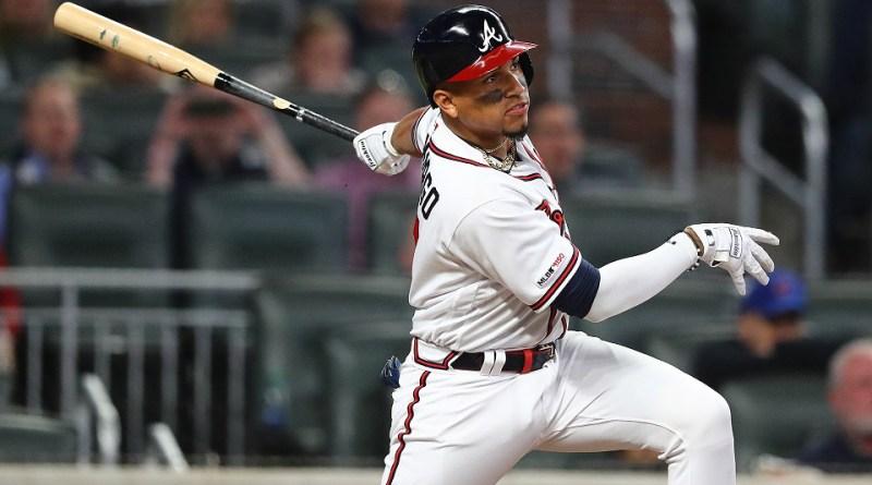 Johan Camargo swinging at a pitch