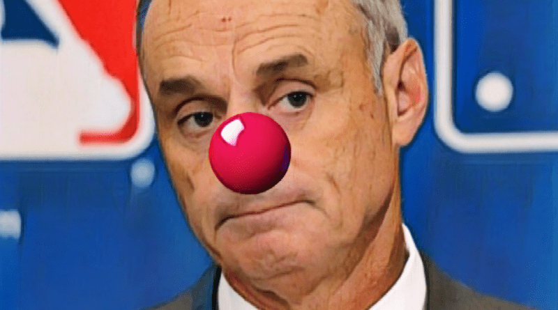 Rob Manfred with a clown nose, because he's no fun