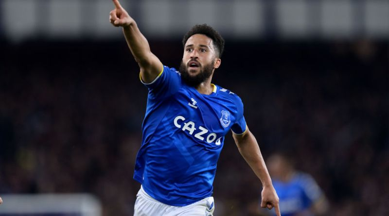 Andros Townsend celebrates after scoring his first Everton goal against Burnley