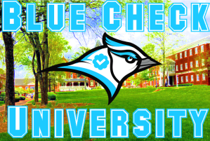 Blue Check University Graphic #3