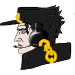 Unknown Gold Chained Headset Chad