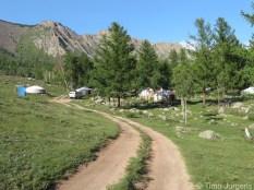 Ger camp Terelj National Park Mongolia