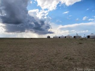 Ger Family Gobi Desert Mongolia