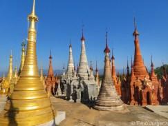 Inthein pagoda view Myanmar