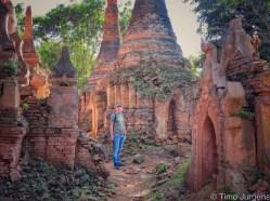 Timo at Inthein Pagodas Inle Lake Myanmar