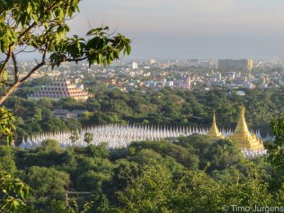 View from Mandalay Hill Myanmar
