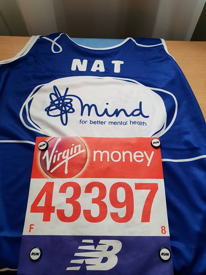 Mind Running Vest With Number Attached