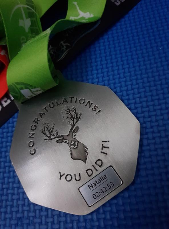 Robin Hood Half Marathon Medal Back