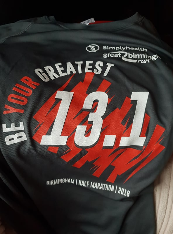 Simplyhealth Birmingham Half Marathon 2018 T-shirt