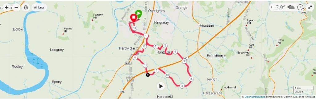 Gloucester Half Marathon Map