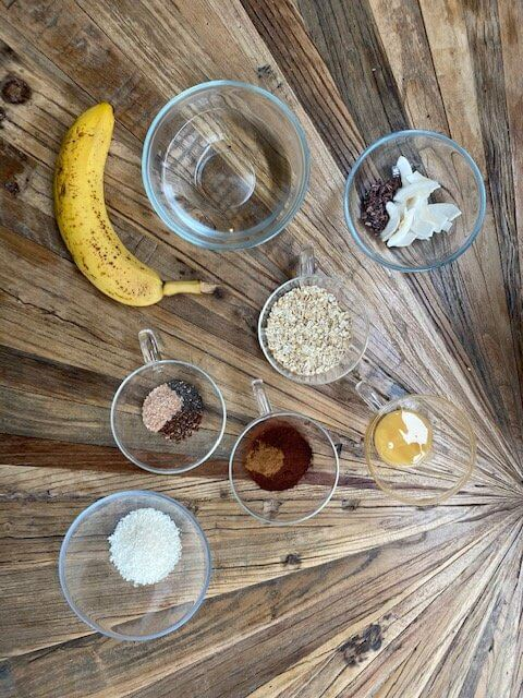 Coconut-Chocolate-porridge-ingredients-schoko-kokos-porridge-zutaten
