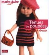 """Livre pour tenue de poupées """"Les chéries"""" de Corolles pour Marie Claire Idées"""