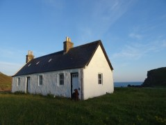 A lovely shot of the bothy in the morning light.