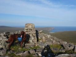 Kearvaig Bay and Cape Wrath from Sgribhis-bheinn.