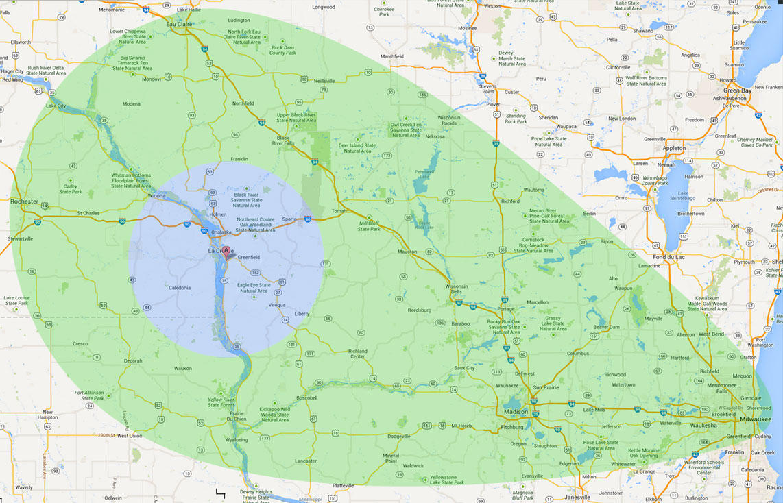 Contact Coulee Region Water Conditioning   Service Area   Wisconsin Coulee Region Water Conditioning   Service Map
