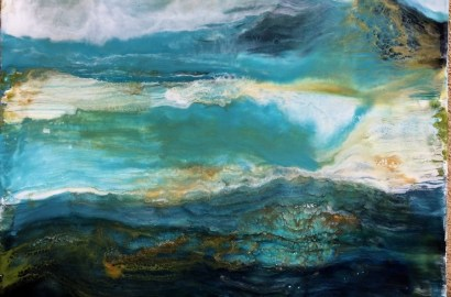 Un tableau peint à l'encaustique, Sylvia Ladic