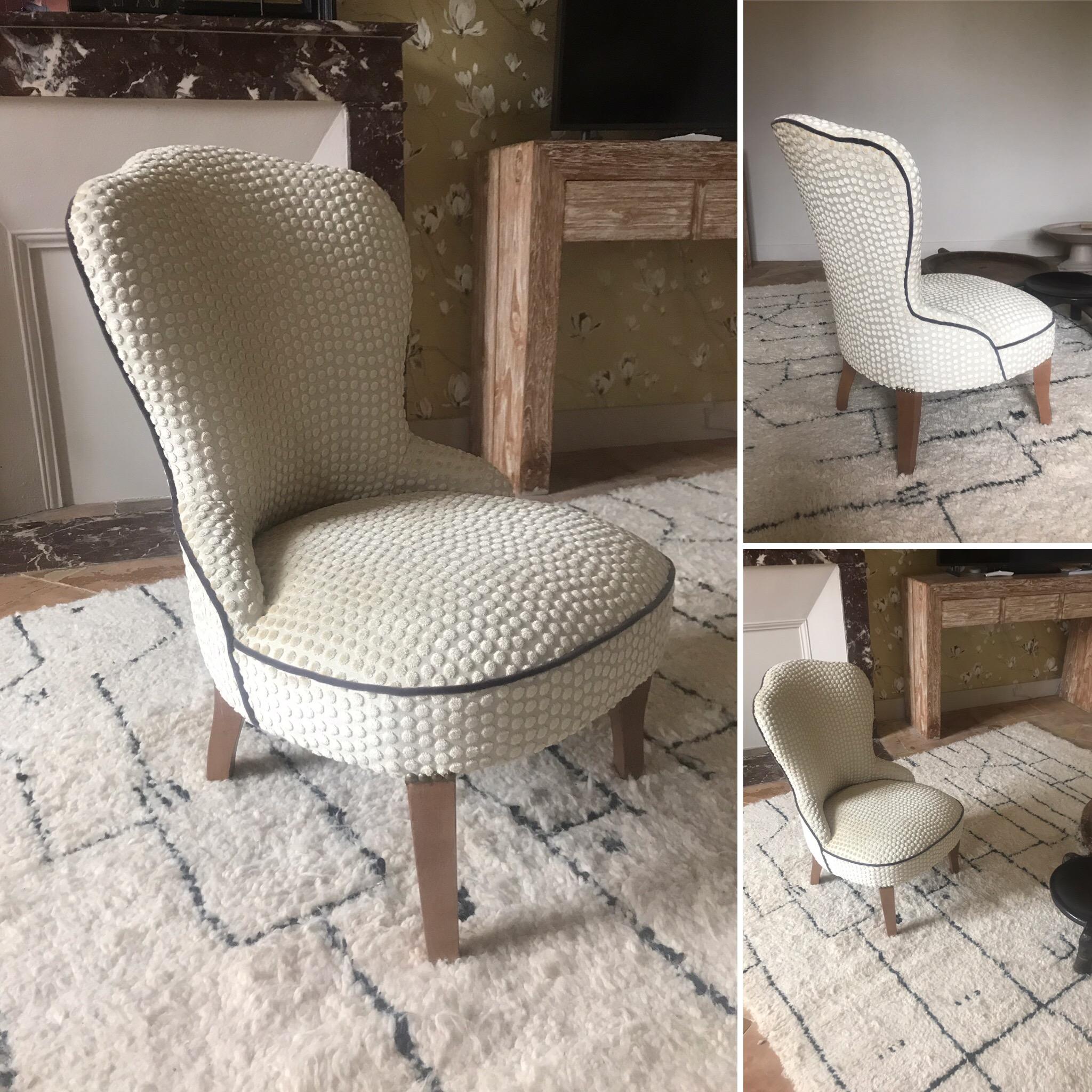 Petit fauteuil crapaud restauré