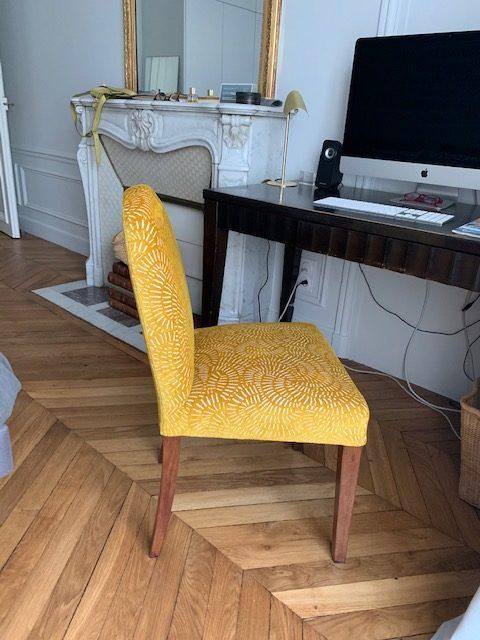 Chaise retapissée Bordeaux
