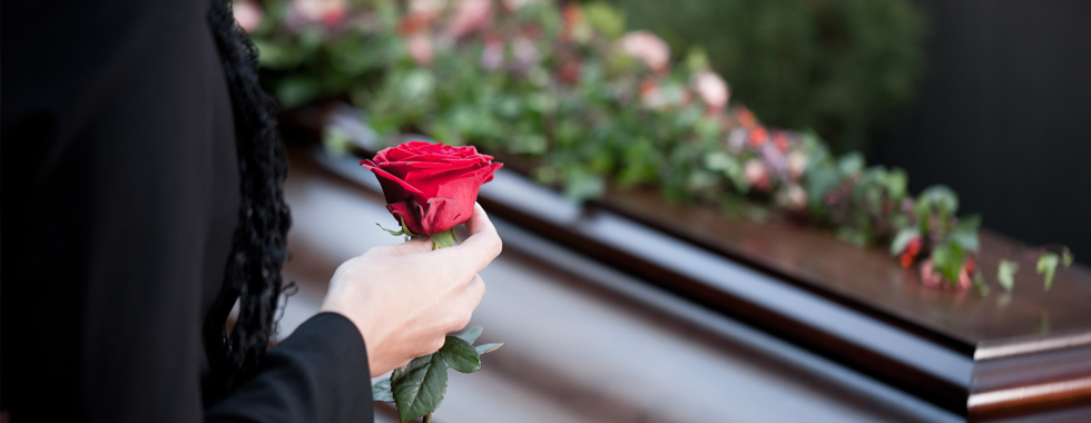 flower at funeral