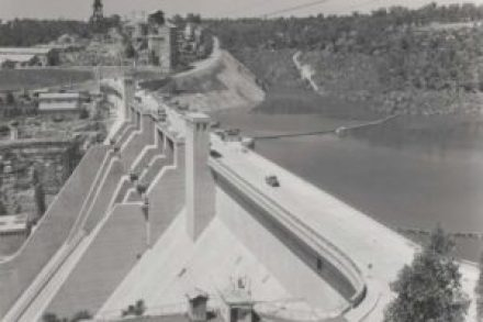 Warragamba Dam in 1960