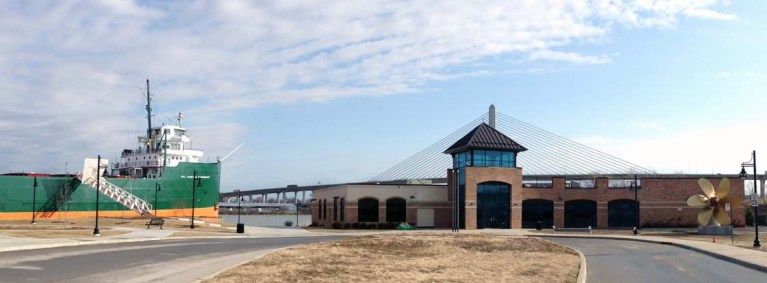 New National Museum of the Great Lakes with museum ship S.S. Col. James M. Schoonmaker. Photo by Candace Clifford