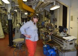 USS Iowa Machine Shop