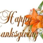 Giving Thanks . . .