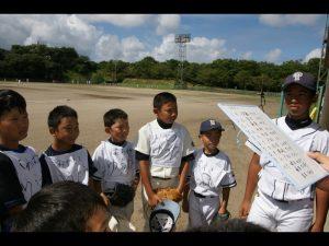 少年野球ミーティング風景