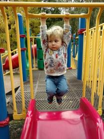 Fall fun at the playground.