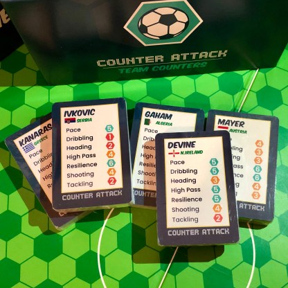 5 sets of player cards