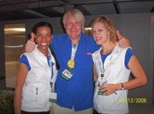 Friend Jennifer Bailey, Charles Martinet (voice for Mario & Luigi) and I at the E3 trade show in 2006. I got an inside look at video game content before it hit the shelves. Read this to get scoop on video game cheat code info.