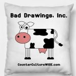 Cow Art pillow