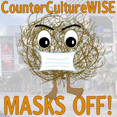 Tumbleweed man with facemask