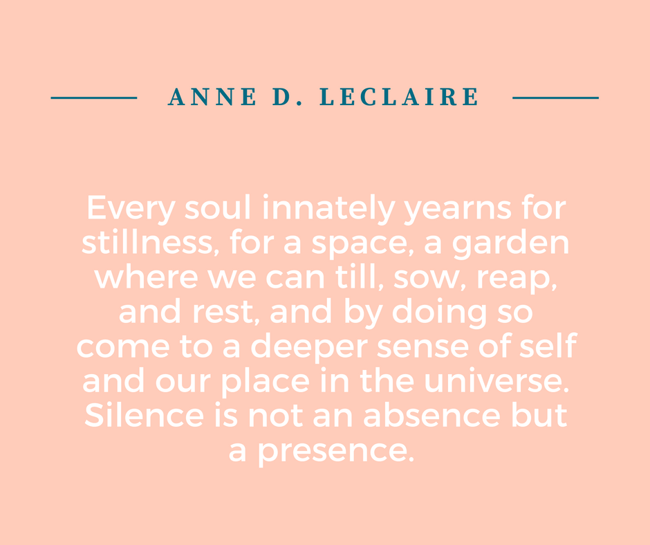 anne leclaire meditation quote