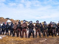 Riot police at the Oceti Sakowin Camp. Photo by Rob Wilson.