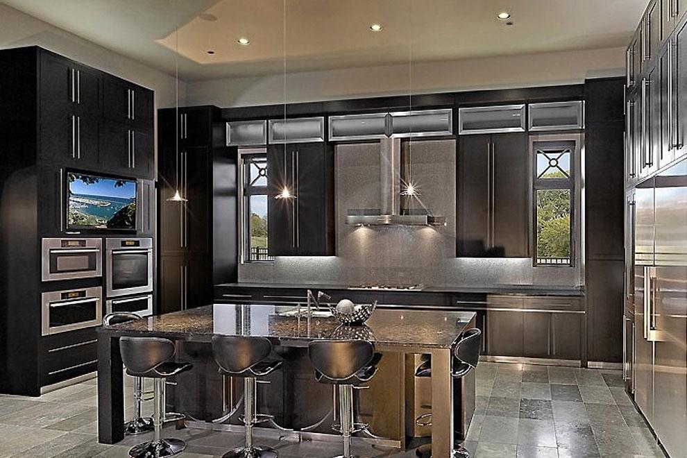50+ Popular Brown Granite Kitchen Countertops Design Ideas on Black Granite Countertops With Brown Cabinets  id=78872