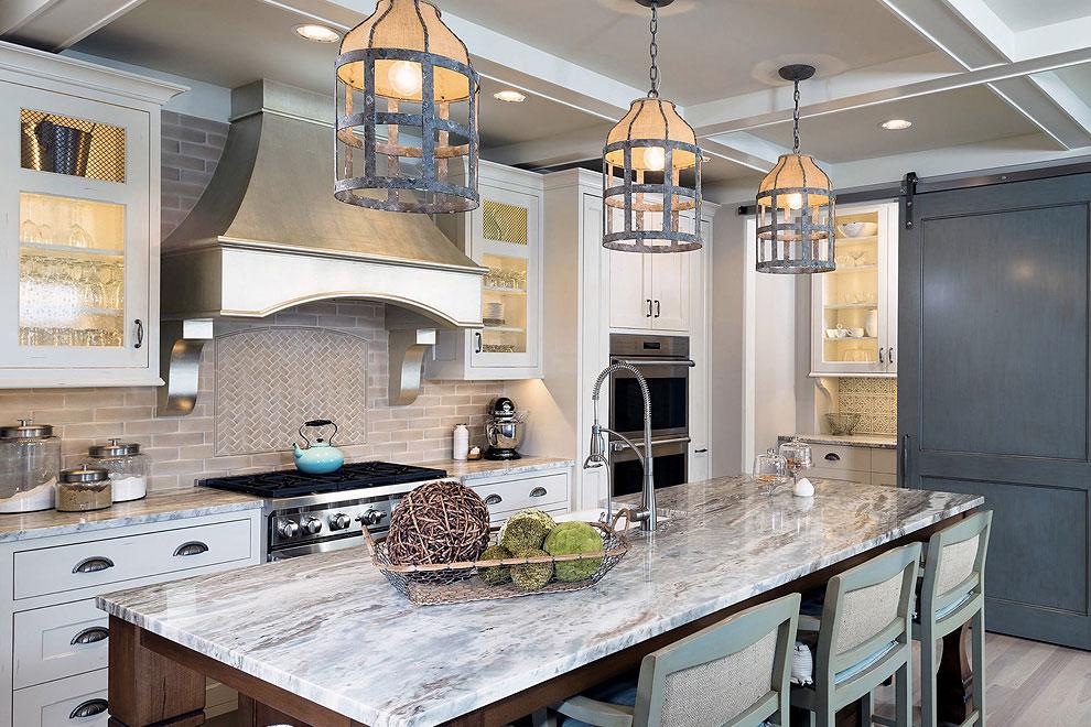 50+ Popular Brown Granite Kitchen Countertops Design Ideas on Black Granite Countertops With Brown Cabinets  id=17571