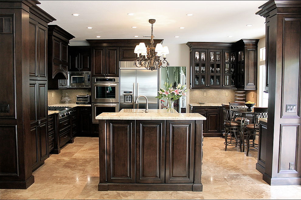 29+ Popular Cream Color Granite Kitchen Countertops ... on Dark Granite Countertops With Dark Cabinets  id=91021