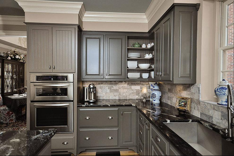 36+ Fabulous Black Granite Countertops Design Ideas on Dark Granite Countertops  id=53404
