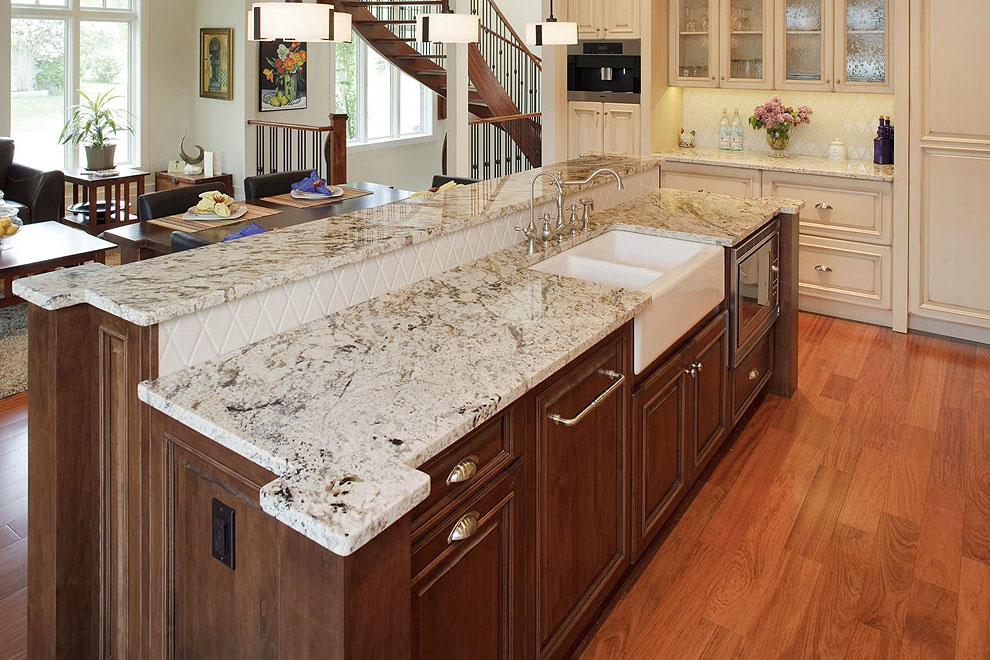 50+ Popular Brown Granite Kitchen Countertops Design Ideas on Black Granite Countertops With Brown Cabinets  id=36590