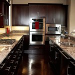 38 Popular White Granite Countertops Dark Cabinets