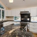 36 Enviable Black Granite Countertop White Cabinets
