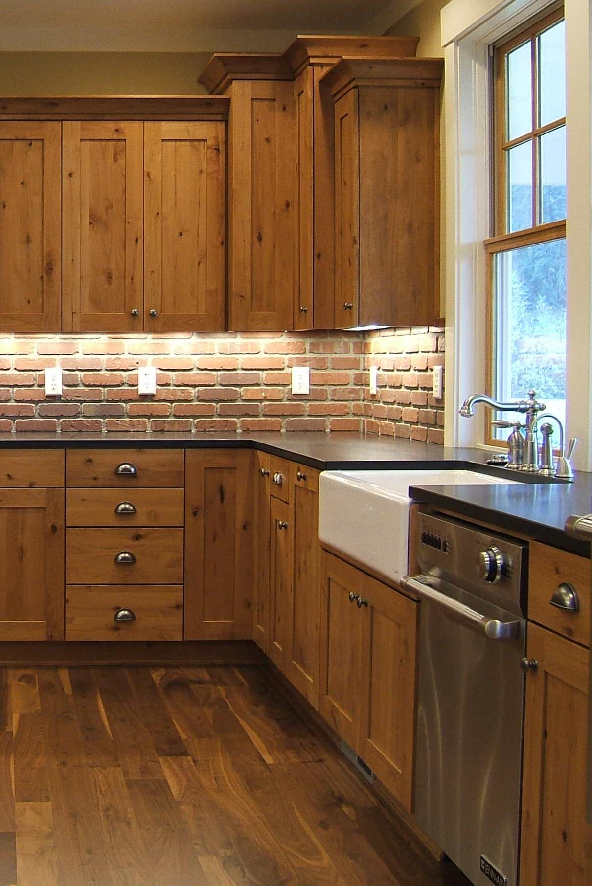 36 Enviable Black Granite Countertop White Cabinets on Black Granite Countertops With Brown Cabinets  id=29349