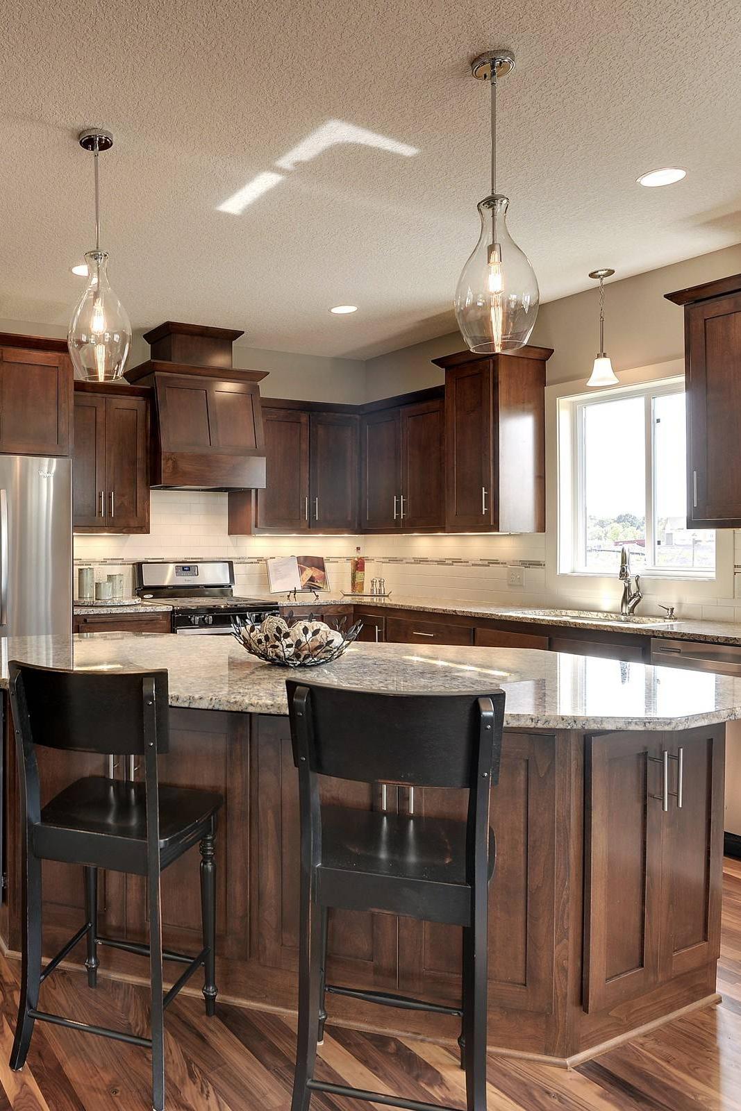 38 Popular White Granite Countertop Dark Cabinets on Black Granite Countertops With Brown Cabinets  id=62549