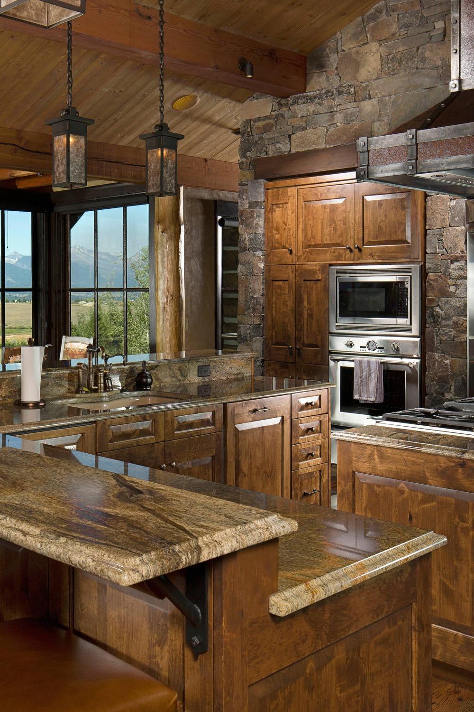 50+ Popular Brown Granite Kitchen Countertops Design Ideas on Black Granite Countertops With Brown Cabinets  id=49497