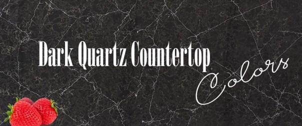 dark quartz countertop colors