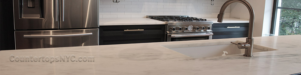 A NEW TREND IN KITCHEN COUNTERTOPS IN NYC IS WHITE MARBLE