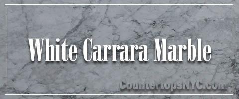 White carrara marble kitchen slab