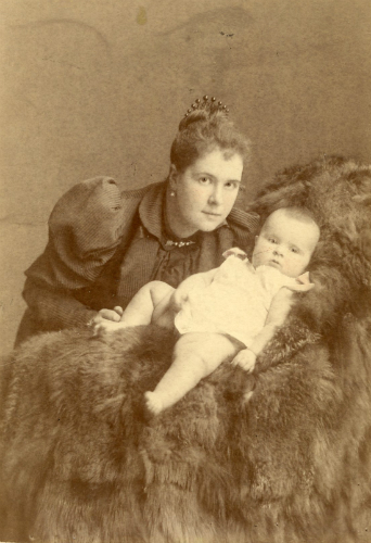 Olga Zweguintzoff 1893 with her mother Baroness Olga Stael Holstein