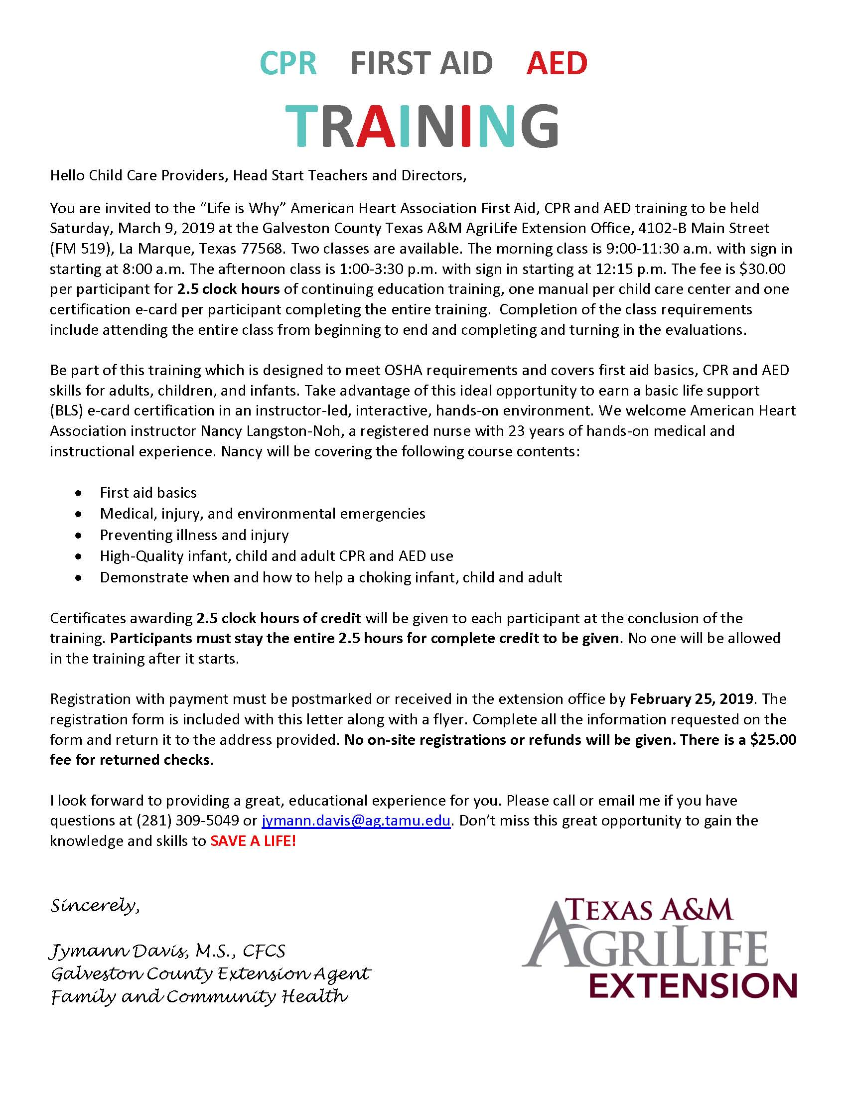 CPR-FIRST AID-AED TRAINING